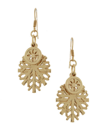 Gold Christmas Earring