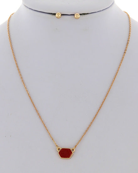 Delicate Gold and Red Necklace