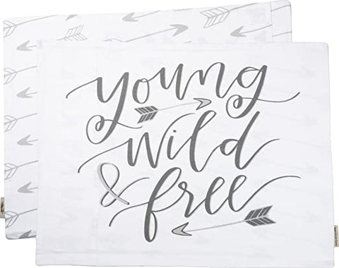 Young, Wild, & Free Pillow Case
