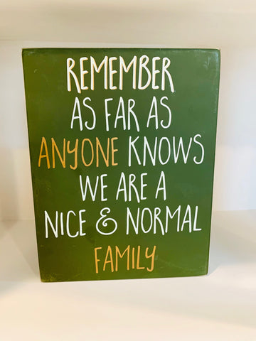 Box Sign - Normal Family