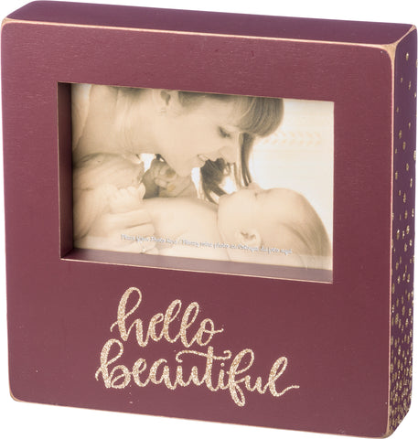Box Frame - Hello Beautiful