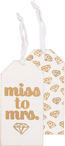 Bottle Tag - Miss To Mrs