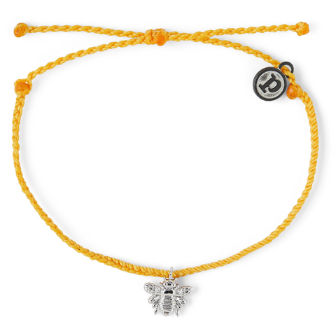 Save the Bees Yellow Charm Bracelet