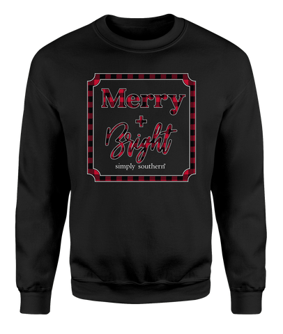 Black & Red Buffalo Check Merry & Bright Crewneck Sweatshirt