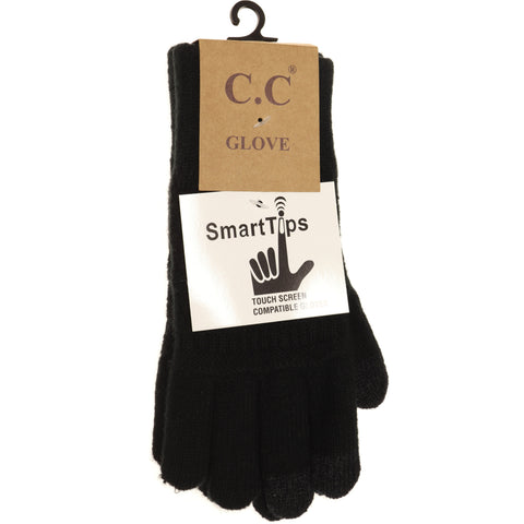 Classic Knit Gloves - Black