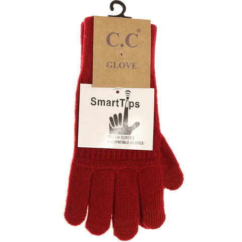 Classic Knit Gloves - Chili Pepper