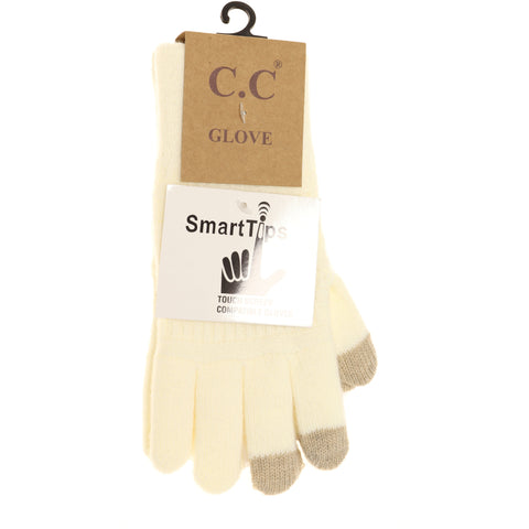 Classic Knit Gloves - Ivory