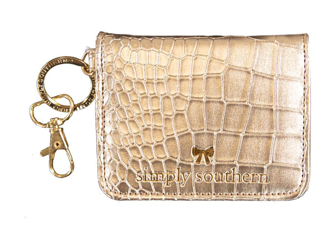 Butterfly Leather Wallet - Gold