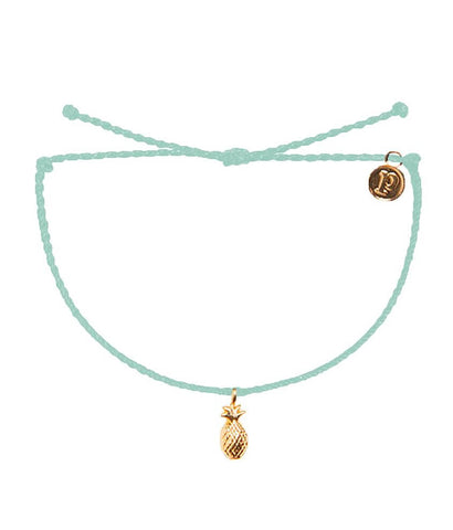 Gold Pineapple Sea Foam Charm Bracelet