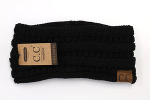 Solid Fleece-Lined Headwrap - Black
