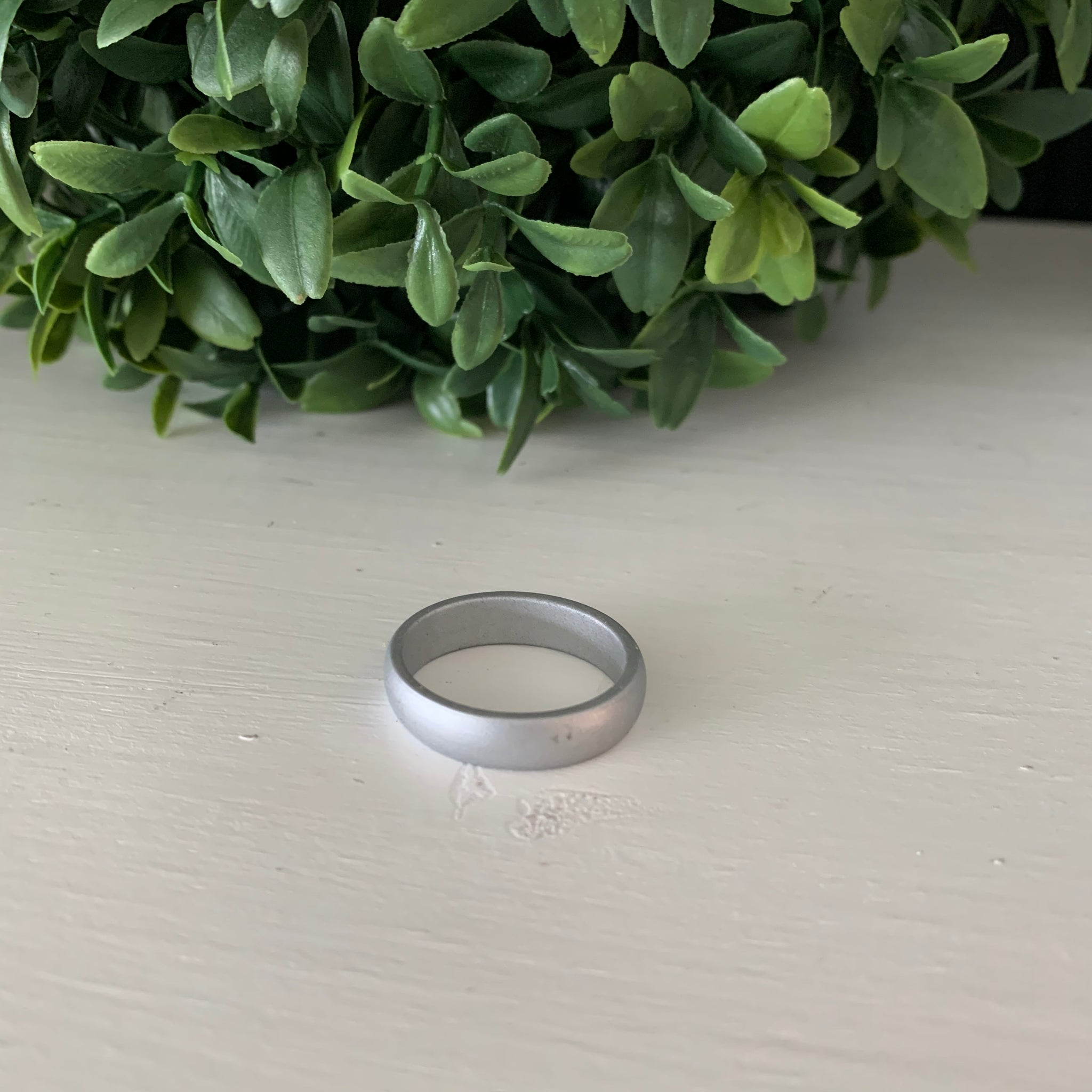 Silver Silicone Ring