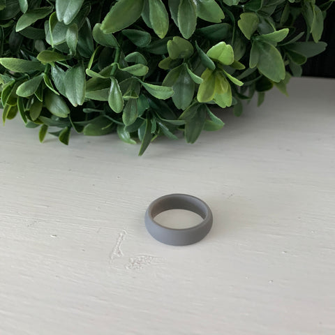 Gray Silicone Ring