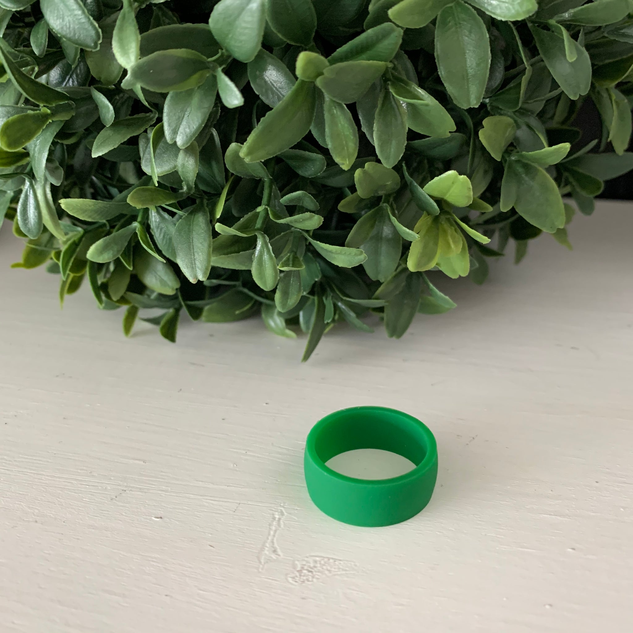 Thick Green Silicone Ring