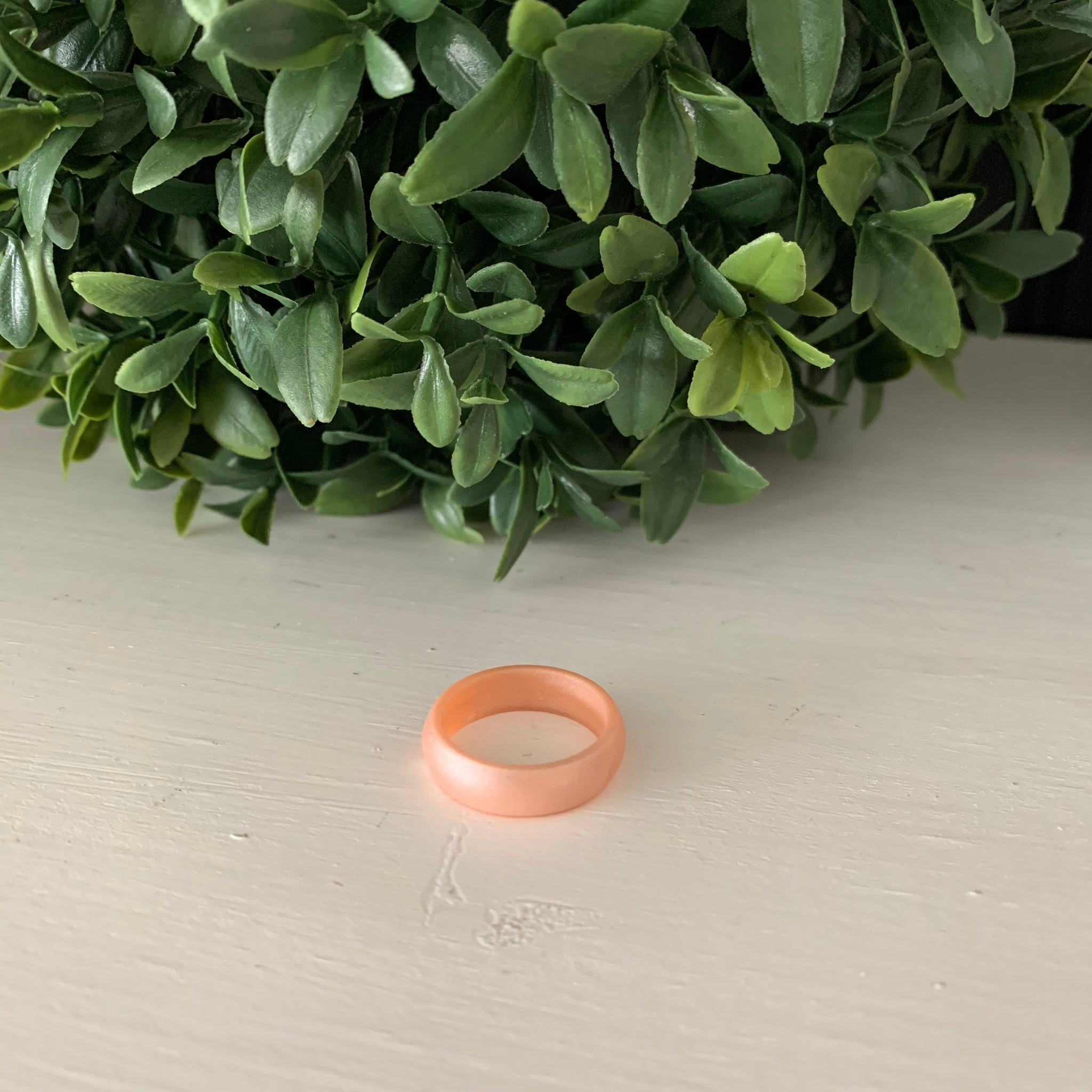 Peach Silicone Ring