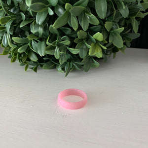 Pink with Sparkles Silicone Ring