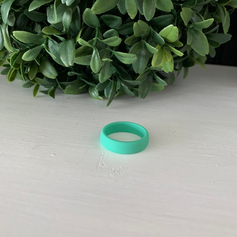 Mint Green Silicone Ring