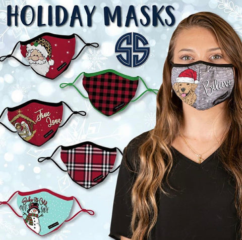 Simply Southern Youth Face Masks - Holiday