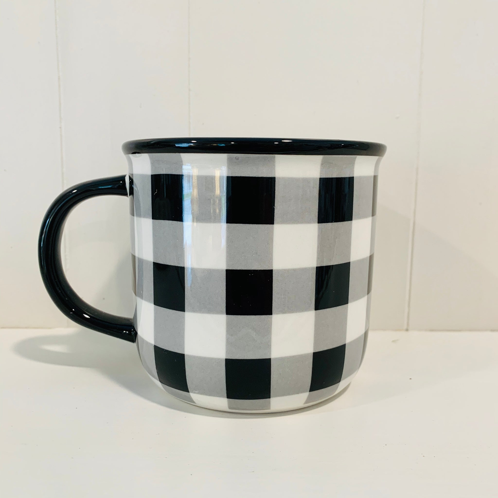 Black & White Check Coffee Mug
