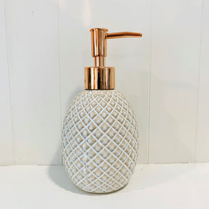 Criss Cross Pattern Soap Dispenser