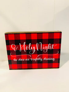 Small Block Sign - Holy Night