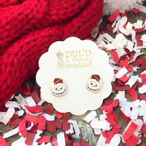 Santa Jack Skellington Prep Obsessed Earrings