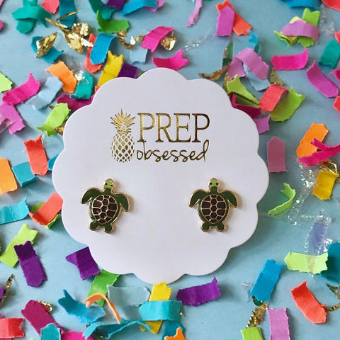 Turtle Prep Obsessed Earrings