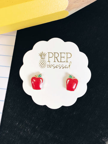 Apple Prep Obsessed Earrings