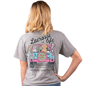 "Adult ""Lacrosse is Life"" Short Sleeve Tee"