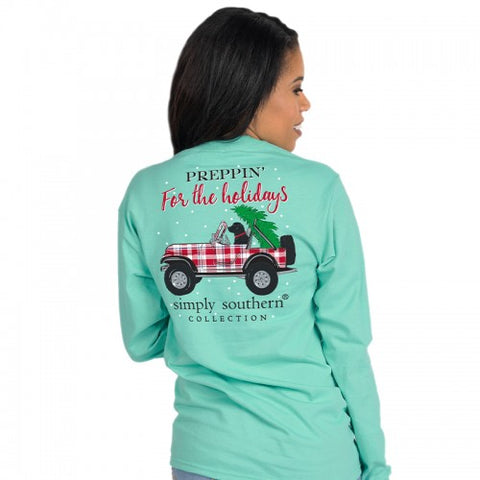 """Preppin for the Holidays"" Long Sleeve Shirt"