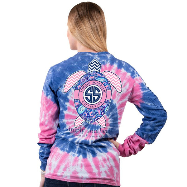 Paisley Turtle Tie Dye Long Sleeve Tee