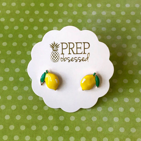 Lemon Prep Obsessed Earrings