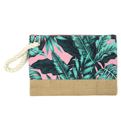 Tropical Leaves Cosmetic Pouch