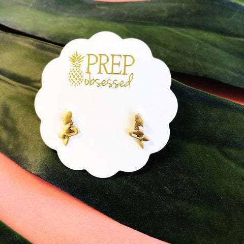 Gold Mermaid Stud Prep Obsessed Earrings