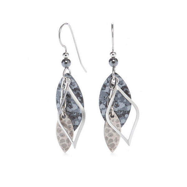 Gray, Black, & Silver Earrings