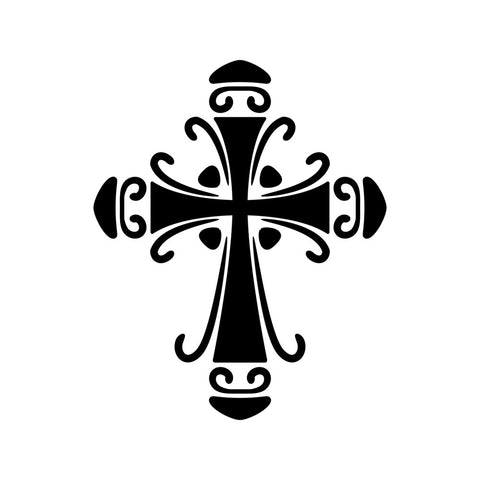 Ornate Cross Stencil