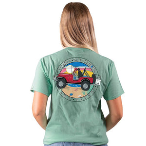 Dawn Patrol with Red Jeep Short Sleeve Tee
