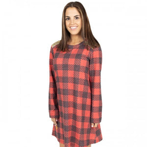 Sequin Tartan Plaid Dress