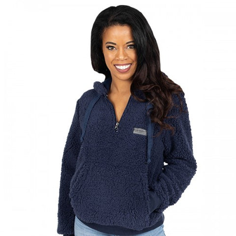 Navy Hooded Sherpa