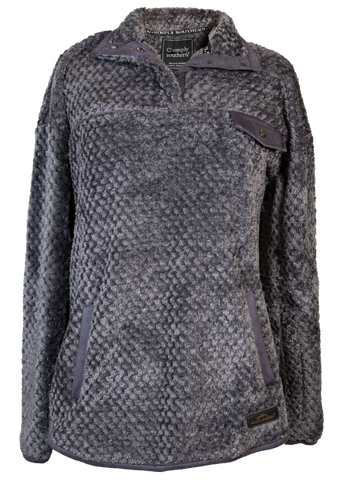 Simply Soft Dark Gray Sherpa Pullover