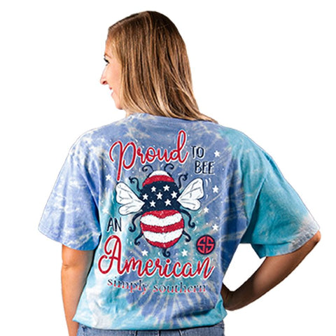 """Proud to Bee An American"" Short Sleeve Shirt"