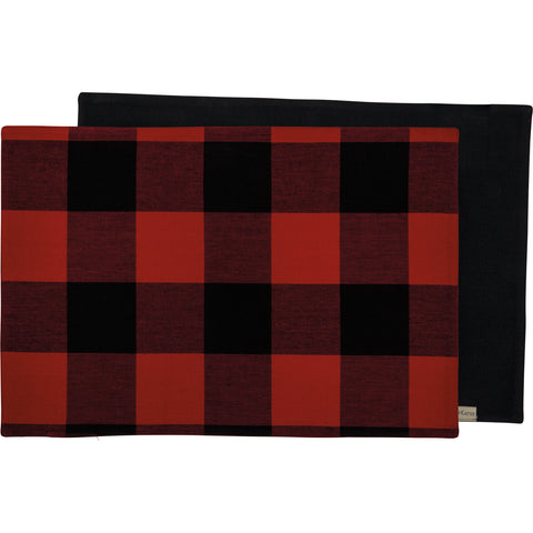 Placemat - Red And Black Buffalo Check