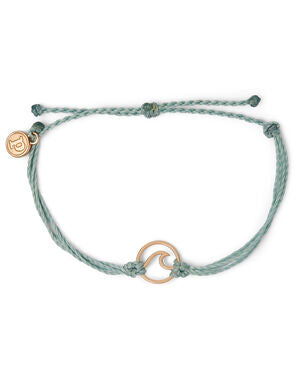 Rose Gold Wave Bracelet - Ice Blue