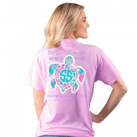 """Be the Change"" Sea Turtle Short Sleeve Tee"