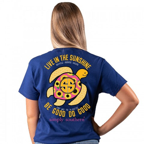 """Live in the Sunshine"" Sea Turtle Short Sleeve Tee"