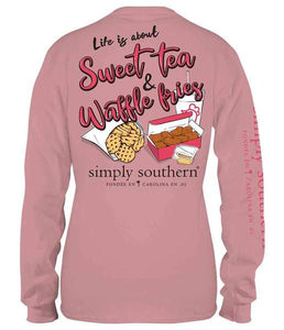 Sweet Tea & Waffle Fries Long Sleeve Tee