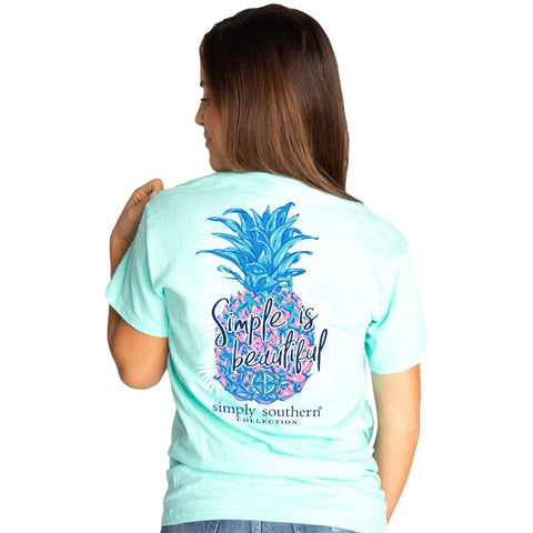 """Simple is Beautiful"" Pineapple Short Sleeve T-shirt"