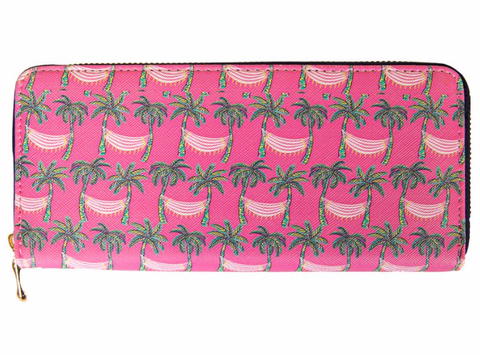 Palm Tree & Hammock Wallet