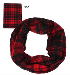 Plaid Woven Figure 8 Scarf