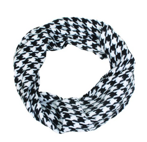 Houndstooth Plaid Infinity Scarf