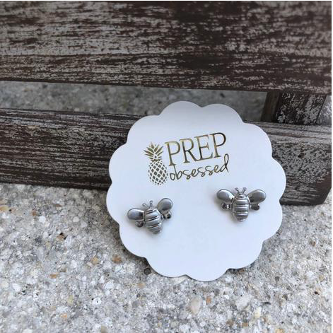 Silver Bee Prep Obsessed Earrings